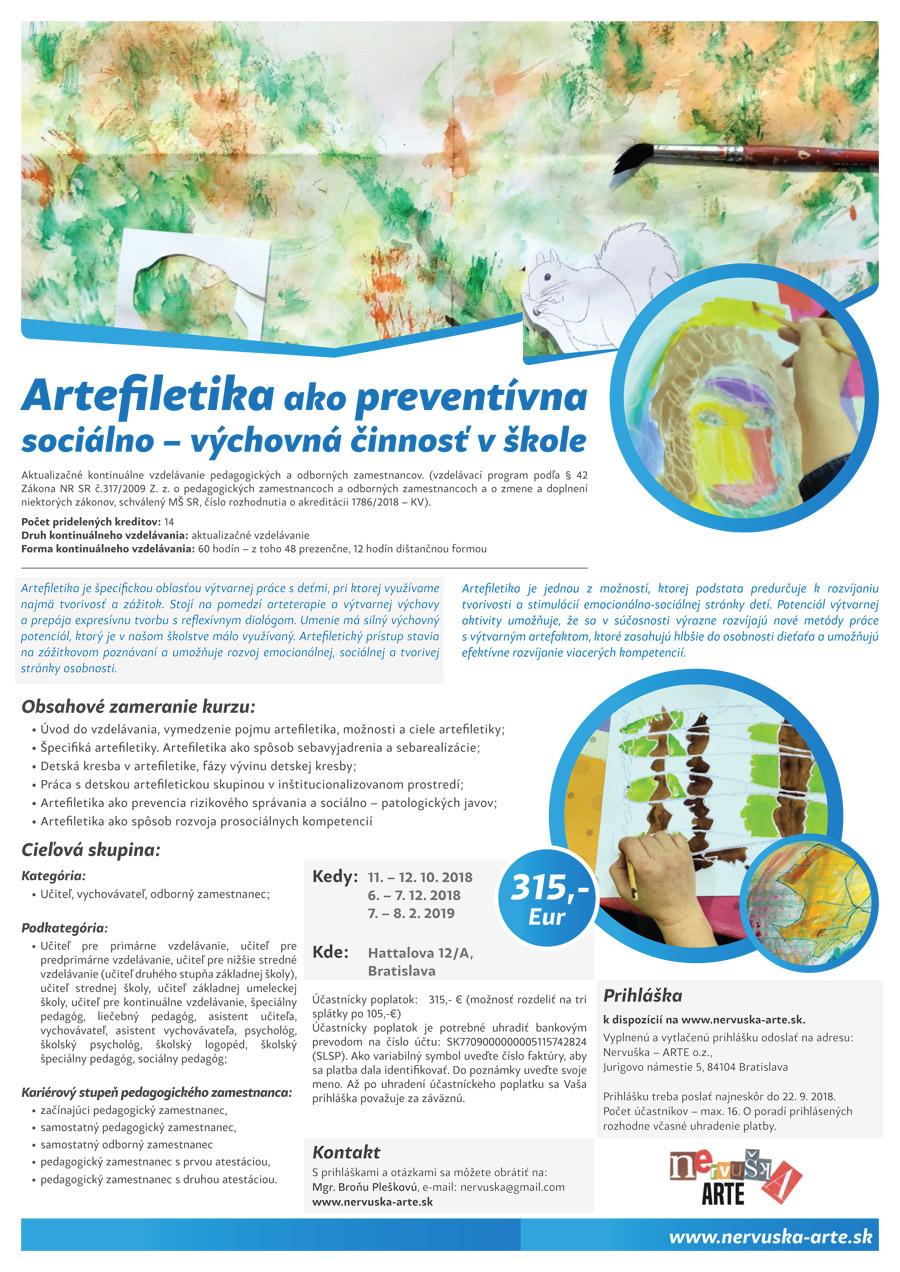 Artefiletika ako preventívna sociálno – výchovná činnosť v škole