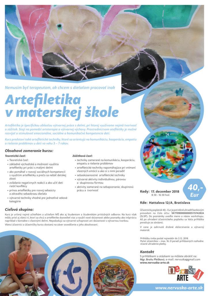 Artefiletika v materskej škole | 17. decembra 2018, Bratislava