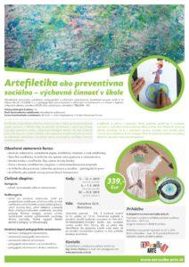 Artefiletika ako preventívna sociálno – výchovná činnosť vškole