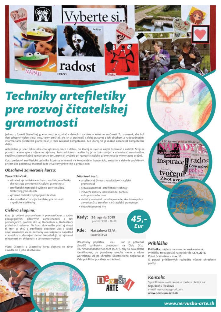 Techniky artefiletiky pre rozvoj čitateľskej gramotnosti