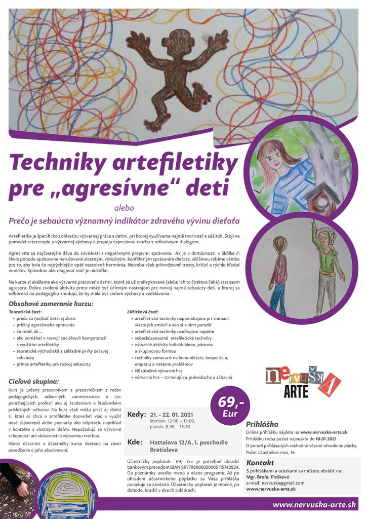 """Techniky artefiletiky pre """"agresívne"""" deti"""