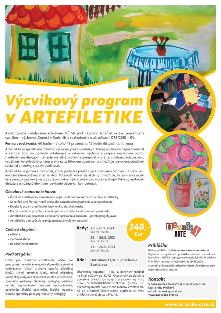 Výcvikový program v ARTEFILETIKE