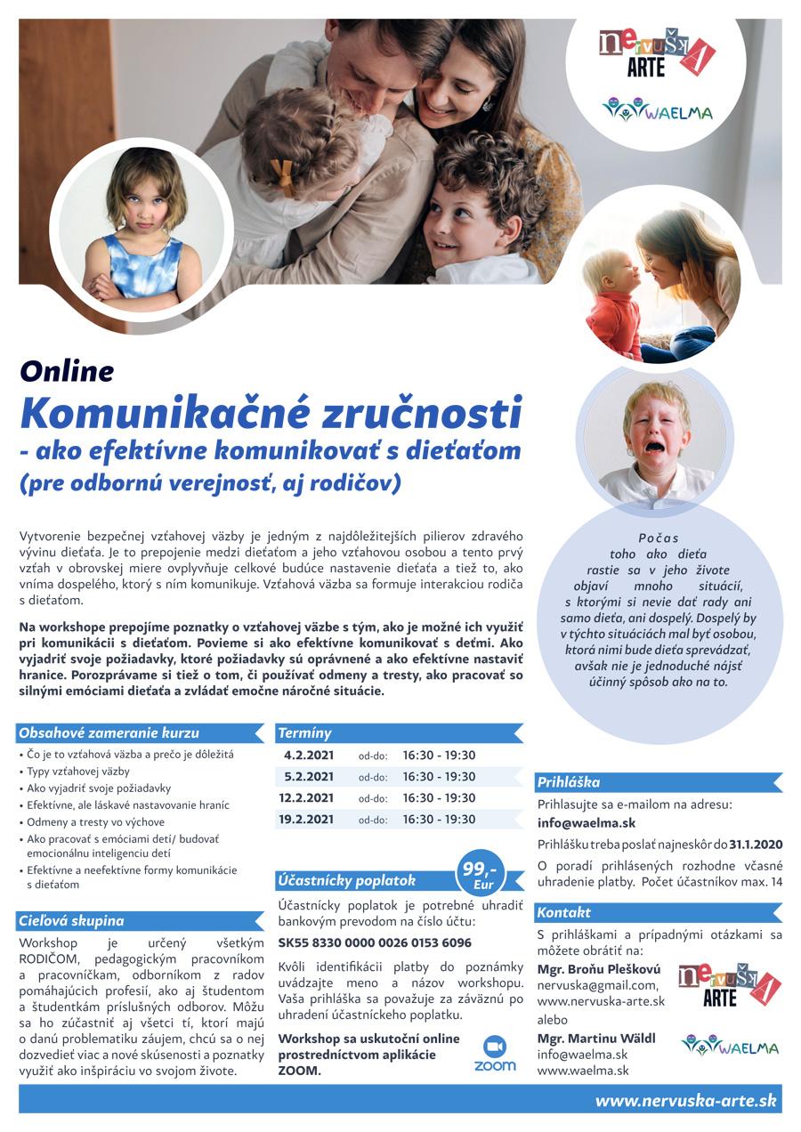 Komunikačné zručnosti - ako efektívne komunikovať s dieťaťom (pre odbornú verejnosť, aj rodičov)