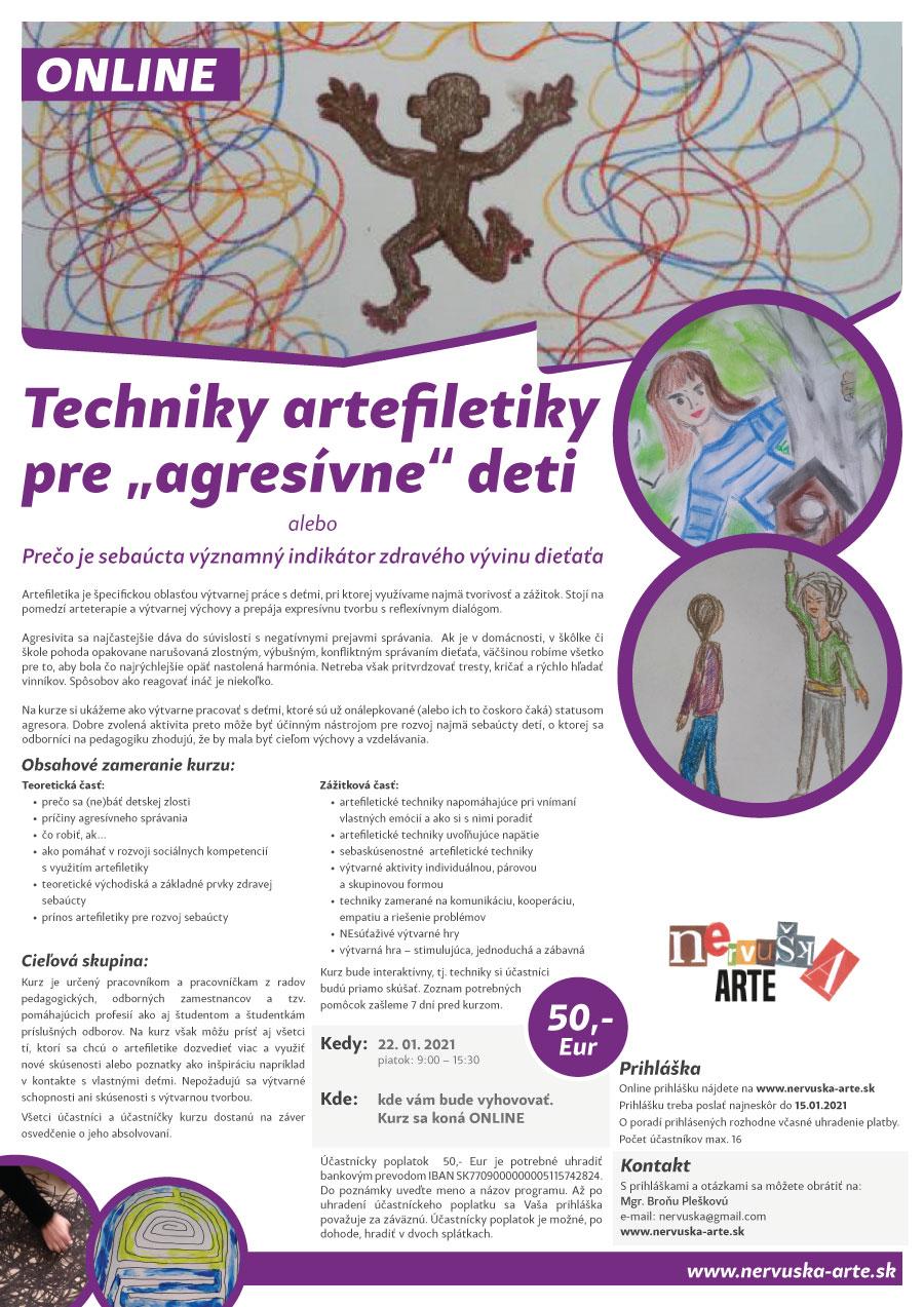 """Techniky artefiletiky pre """"agresívne"""" deti - ONLINE"""