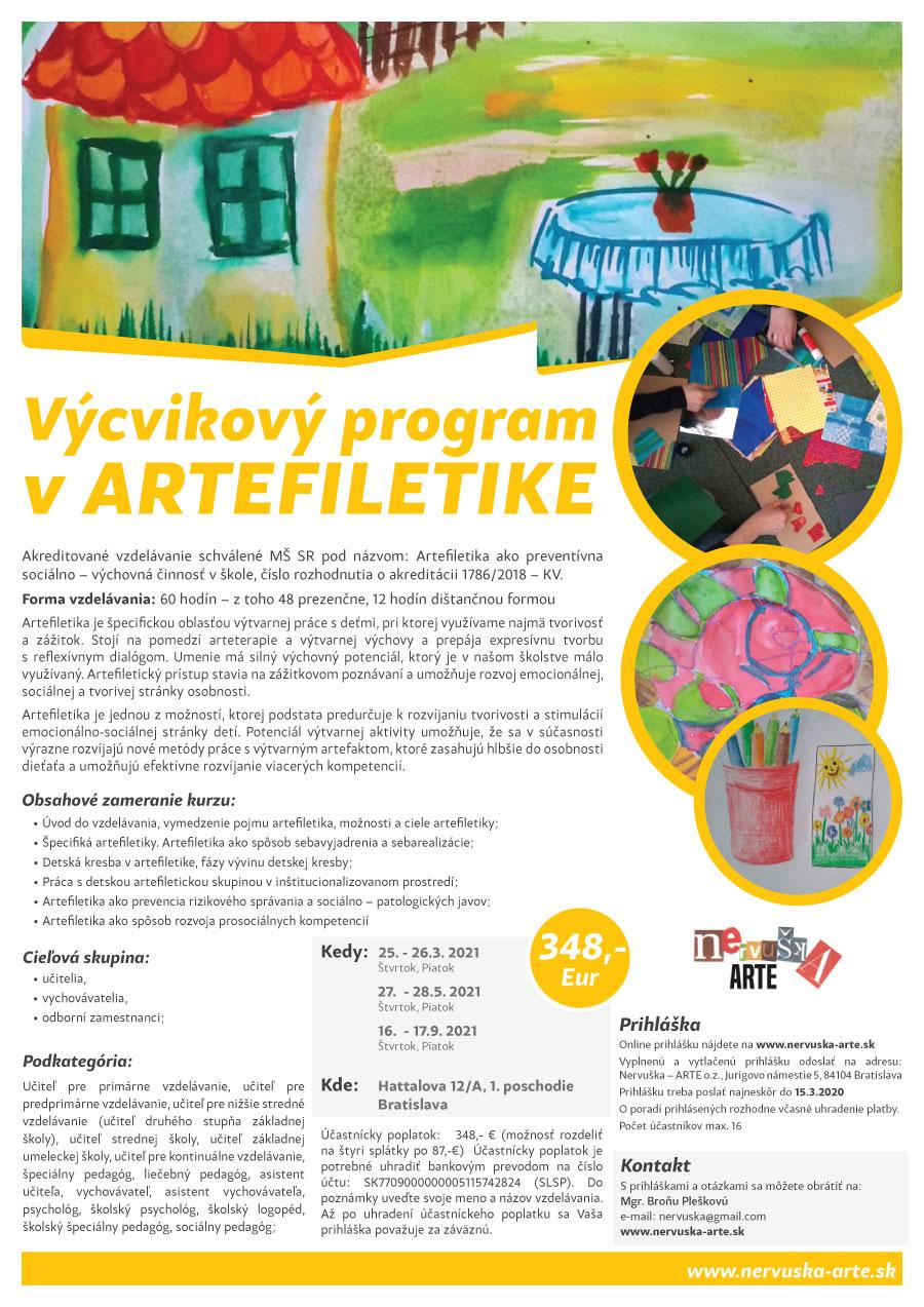 AKREDITOVANÝ Výcvikový program v ARTEFILETIKE