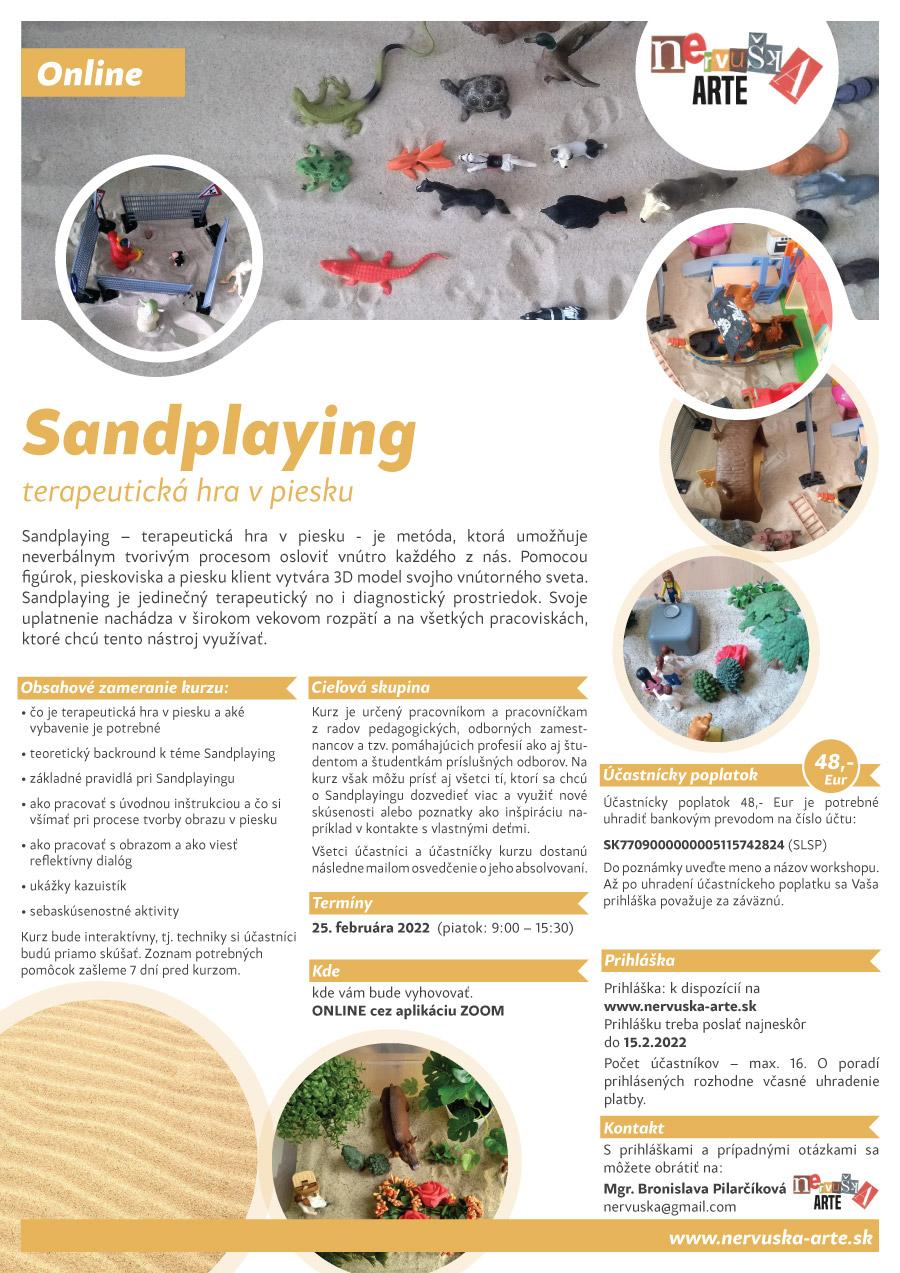 Sandplaying terapeutická hra v piesku